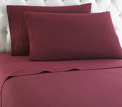 Micro Flannel Sheet Set - Wine